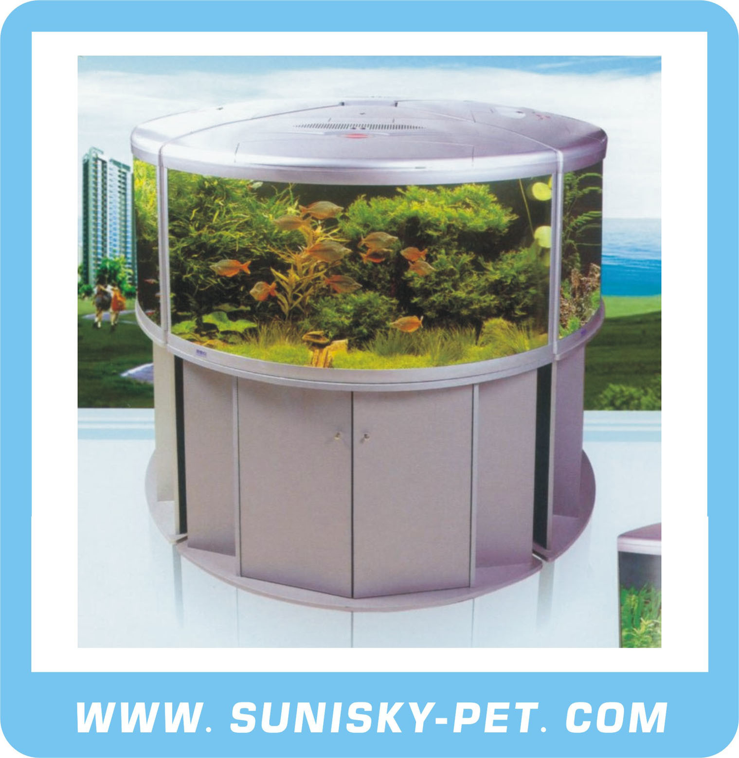 Glass Aquatic Tank UFO Series