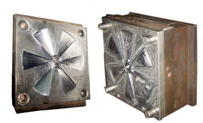 Single Cavity Plastic Table Fan Blade Injection Mould