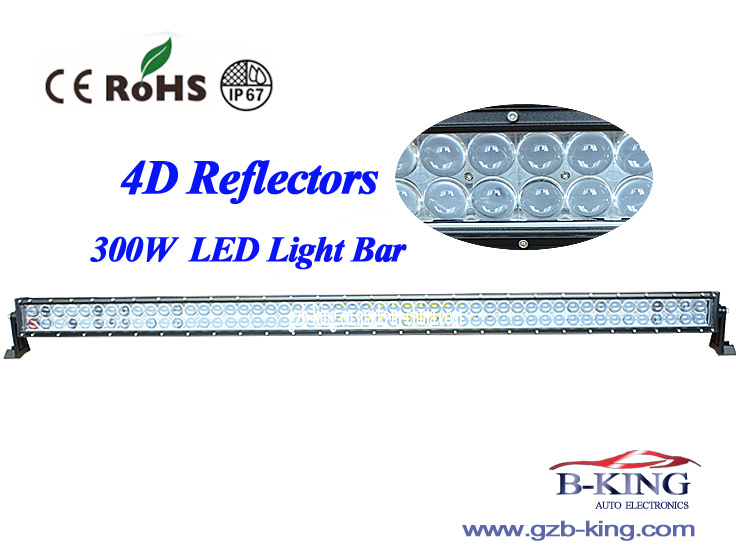 New Arrival 4D 300W LED Light Bar