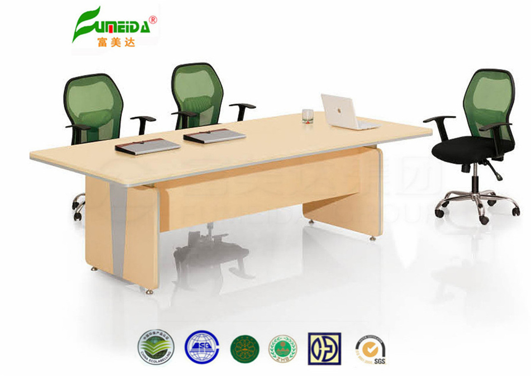 MFC High End Modern Oak Conference Table