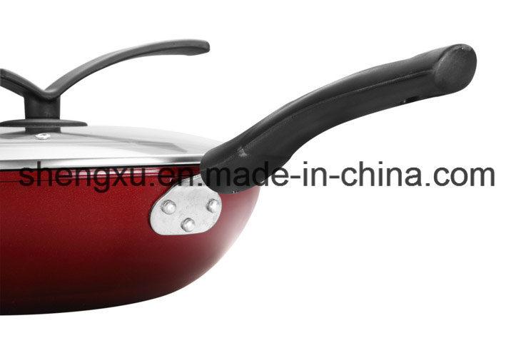 Coated Ceramic Pure Iron Non-Stick Gift Wok Sx-C002