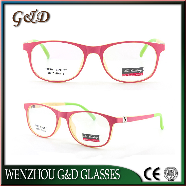 Fashion Colorful Tr90 Eyewear Eyeglass Kids Optical Glasses Frame 5667