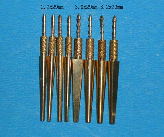 Dental Brass Dowel Pins with Spike Dental Dowel Pins with Spike, Dowel Pins with Tail