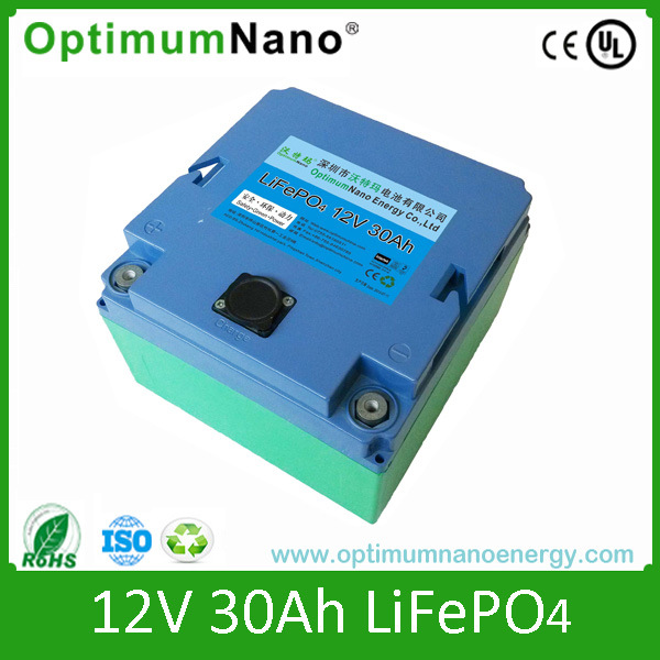 12V 30ah LiFePO4 Lithium Start Battery for EV, Hev, UPS
