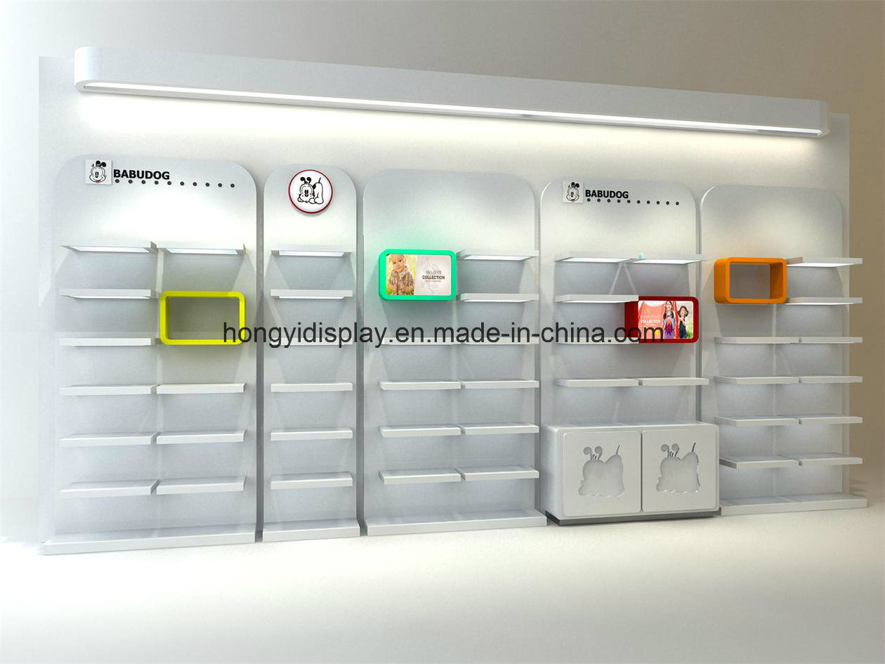 China Retail Wall Display Retail Store Wall Unit For