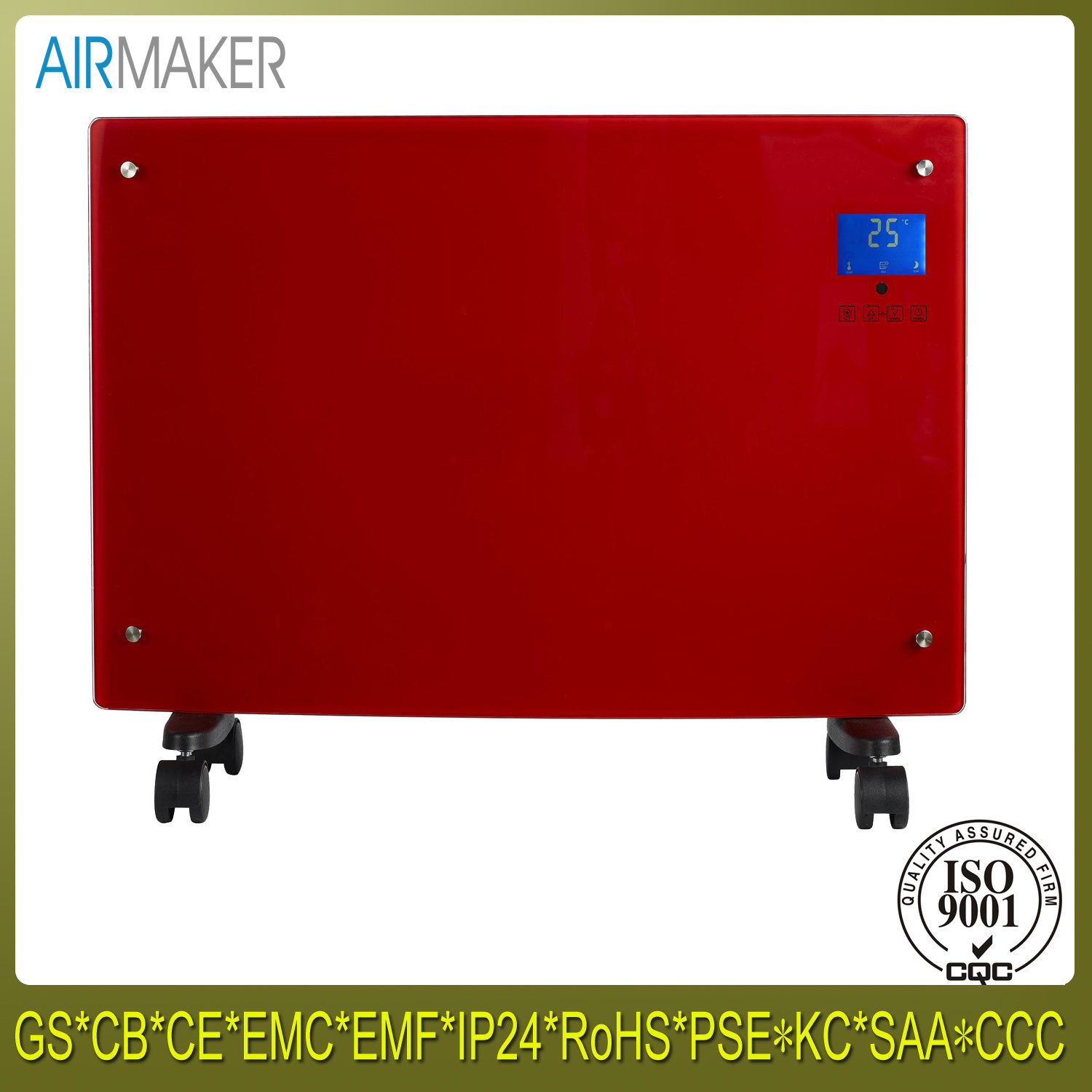 Hot Sale Wall Mounted Glass Panel Electrical Convector Heater