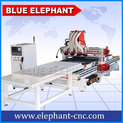 Ele 1330 Kitchen Cabinet Making Machine, Multi Spindle CNC Router for Wood Door
