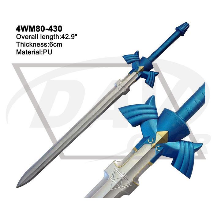"""42.9"""" Overall Blue Foam Zelda Sword with Painting: 4wm80-430"""