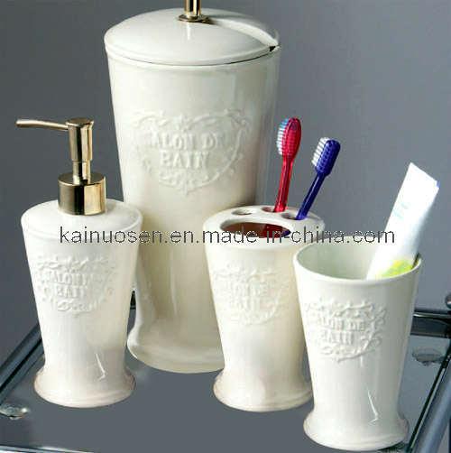 China White Ceramic Bathroom Accessories Set China Ceramic Bathroom Set Bathroom Set