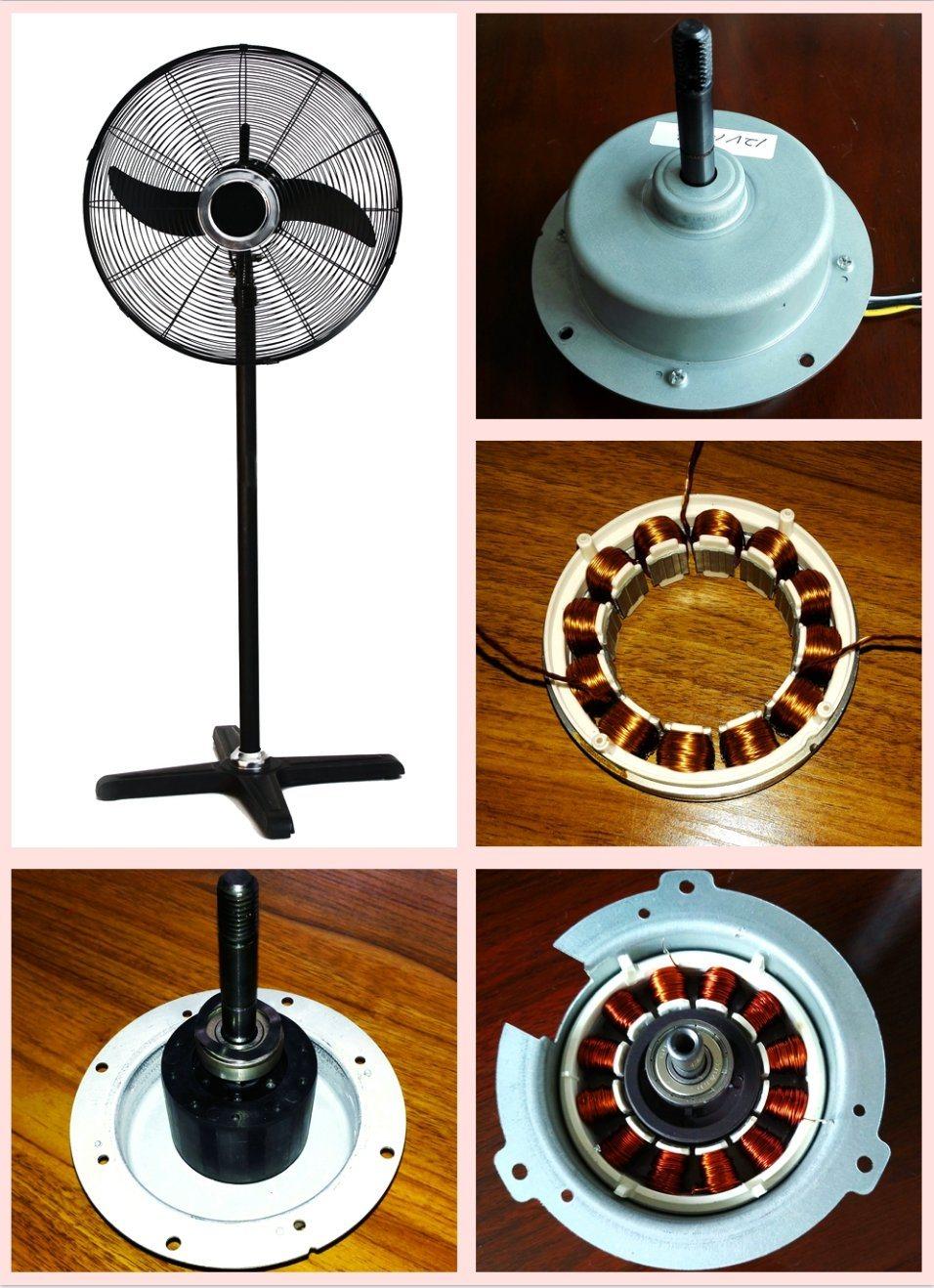 500mm 650mm 750mm Inverter DC Motor Industry Pedestal Fan with Aluminium Blades