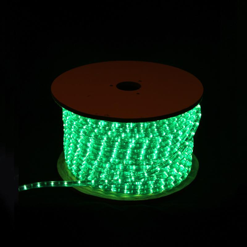 LED Rope Light Round 2 Wires Green for Christmas Decoration