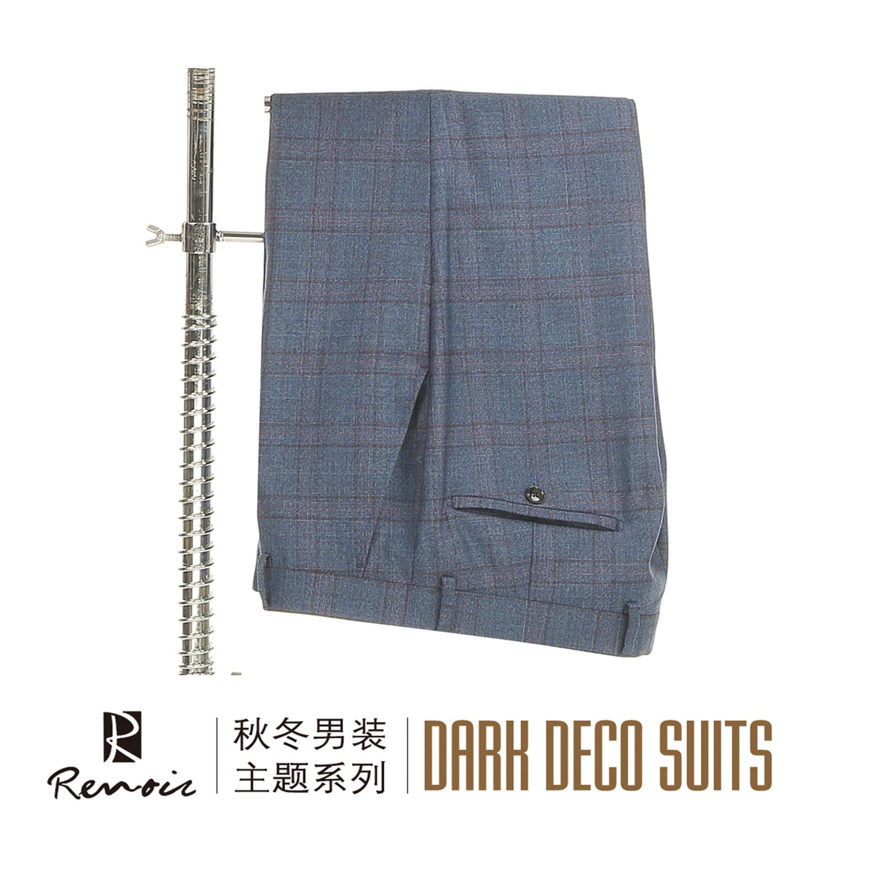 OEM Peak Lapel Wool Classic Fit Men′s Business Suit