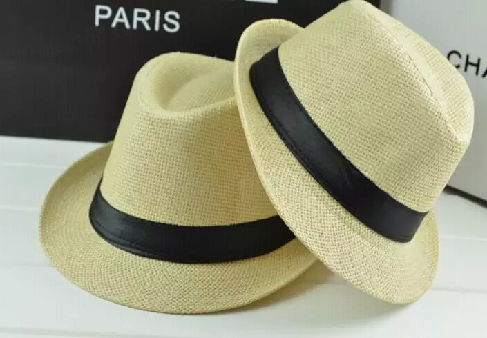 Fashion Straw Paper Basic Fedora Tribly Hat