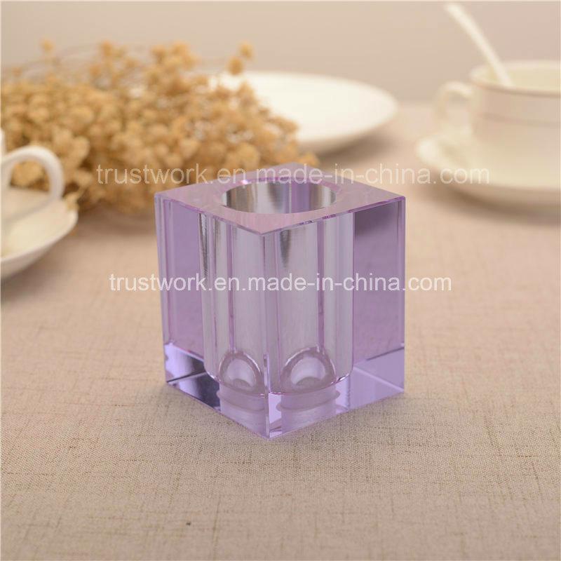 Natural Color K9 Crystal Candle Holder
