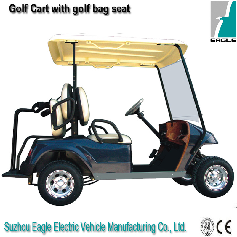 Golf Car with Rear Golf Bag Seat