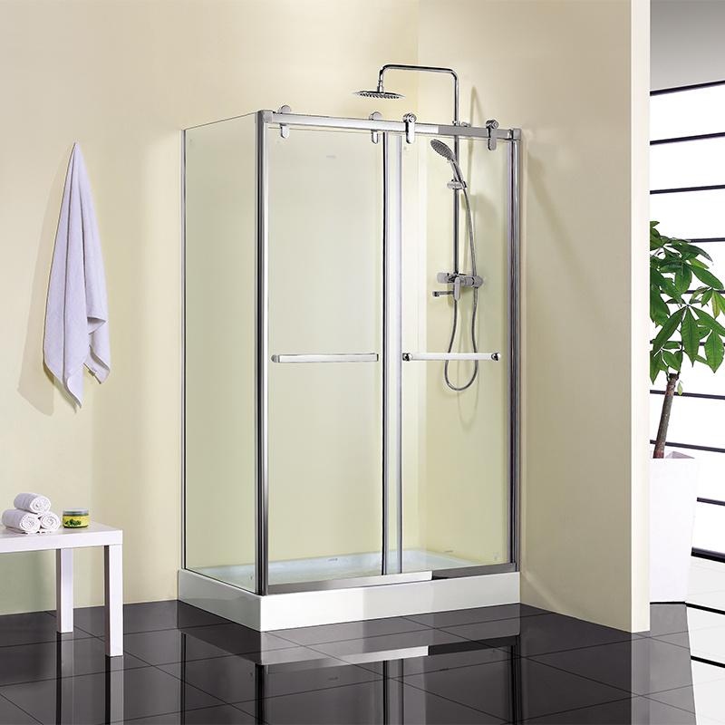 Rectangular Corner Shower Room Tempered Glass Shower Enclosure
