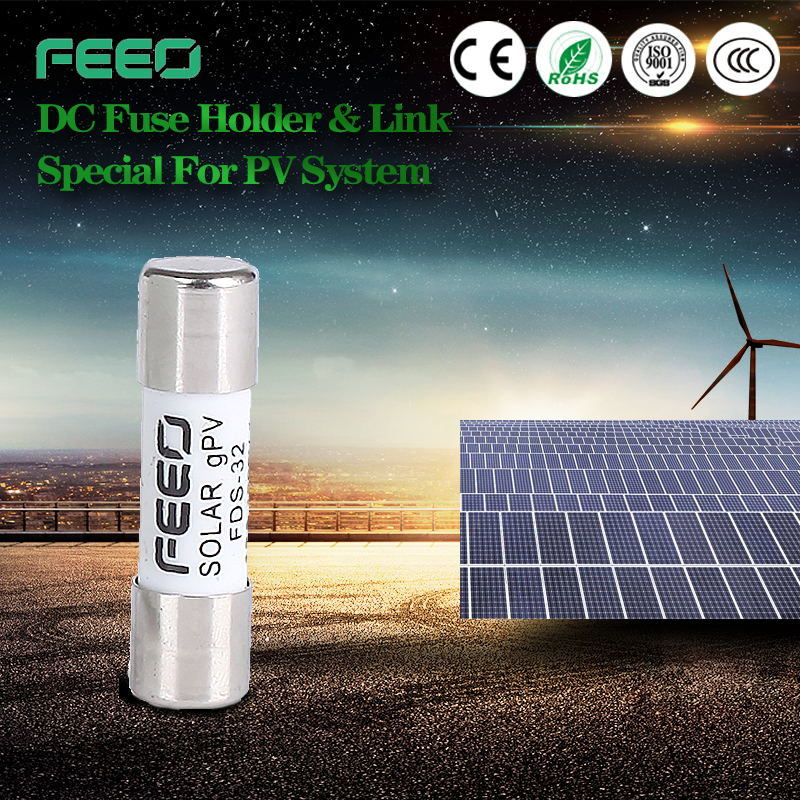 Thermal 1p PV Cylinderical Solar System DC Fuse and Holder
