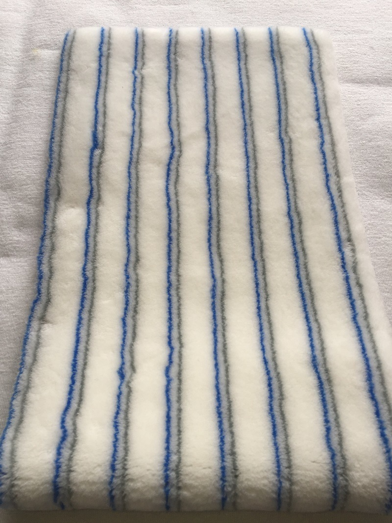 Blue and Brown Paint Roller Fabric