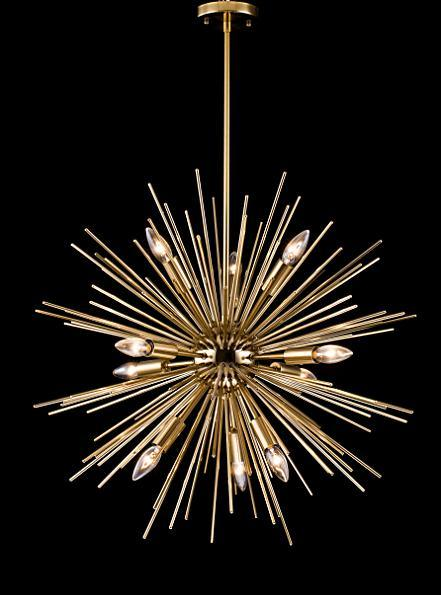 Modern Metal Star Chandelier