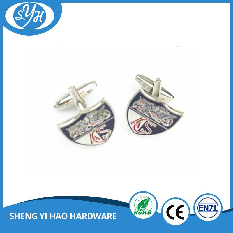 Best Quality Custom Enamel Gold Metal Cufflinks for Men