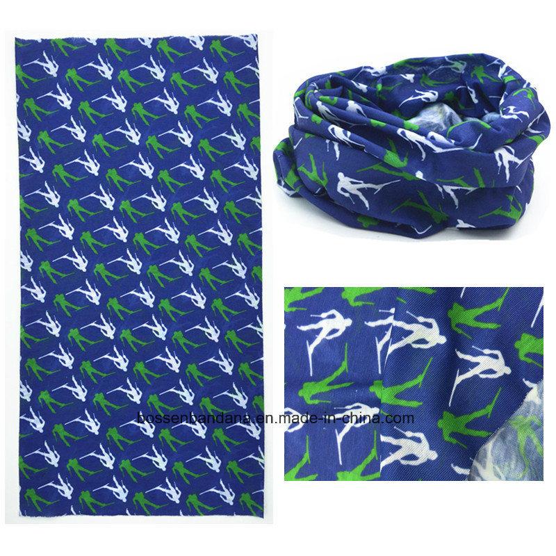 Custom Made Customized Design Printed Polyester UV Protection Seamless Multifunctional Headwear