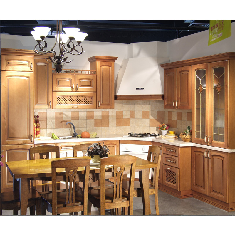 Wood Kitchen Cabinets Product: China Maple Solid Wood Kitchen Cabinet Photos & Pictures