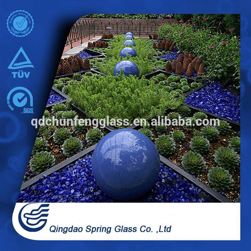 Cobalt Blue Glass Rocks for Garden