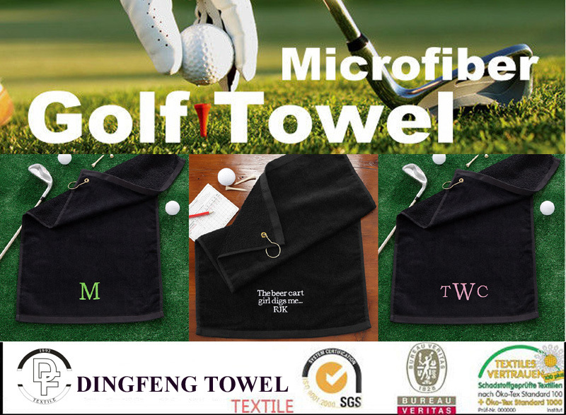 Golf Gifts Customer Embroidery Cotton Velour Golf Towel
