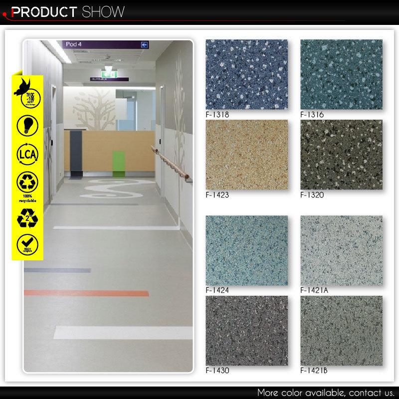 High Traffic Use PVC Flooring Sheet Vinyl Floor (F-2087)