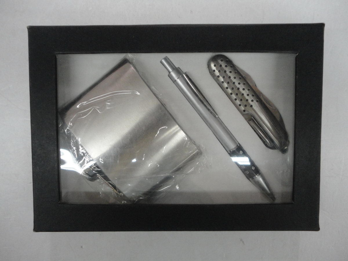 Promotion Hip Flask Set with Gifts Box