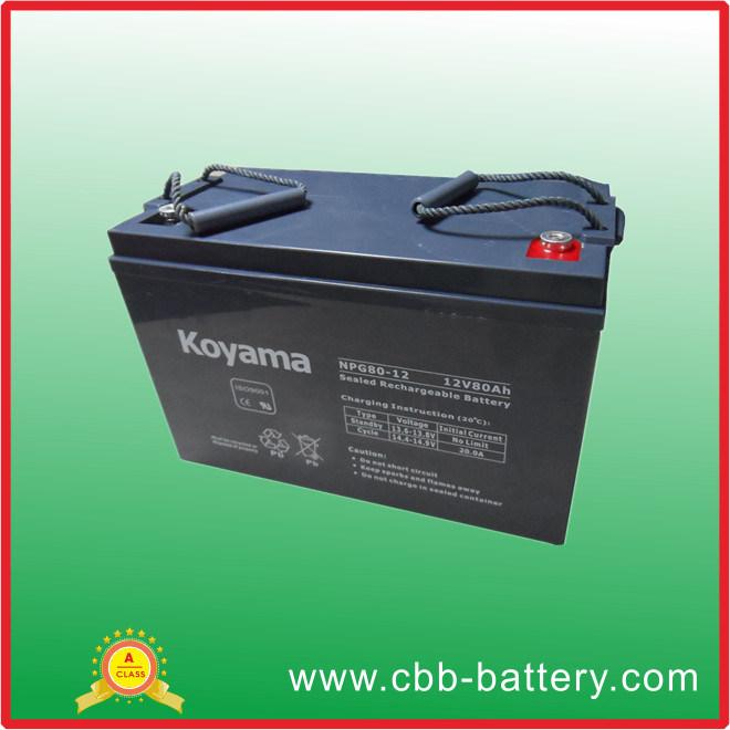 High Quality European Electric Boat Battery 80ah 12V Npg80-12