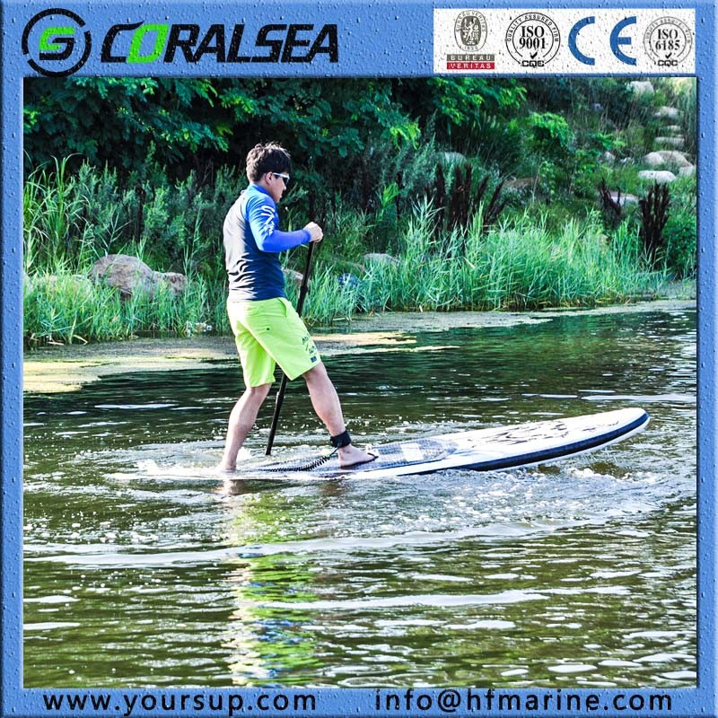 "Beautiful Design Inflatable Surf Board Stand up Paddle Surf with High Quality (Magic (BW) 10′6"")"