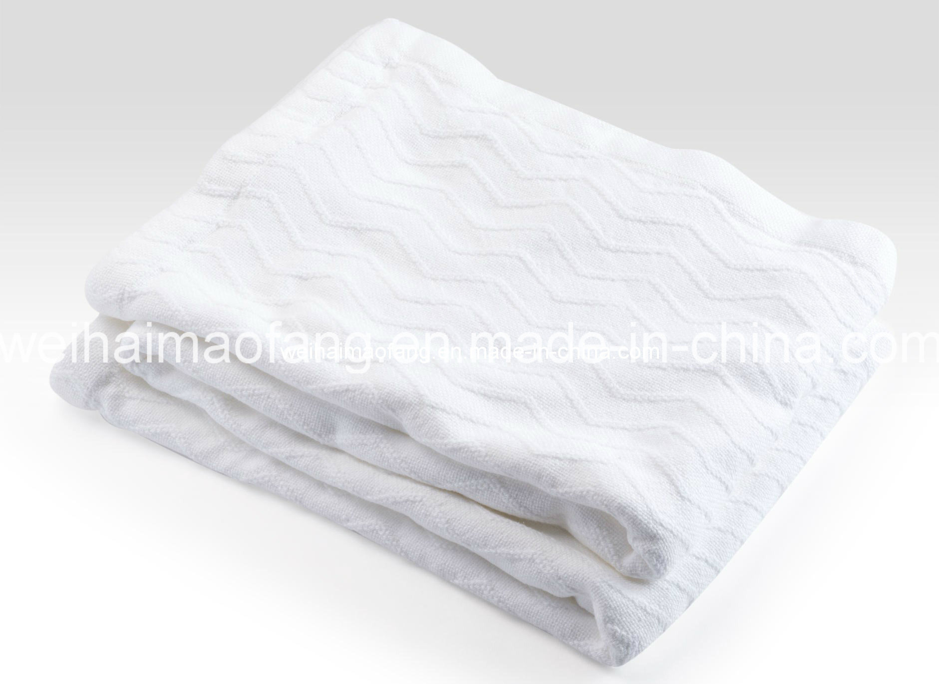 Woven Jacquard Weave 100% Pure Cotton Blanket