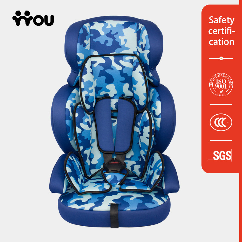 Child Car Safety Seats with Linen Fabric