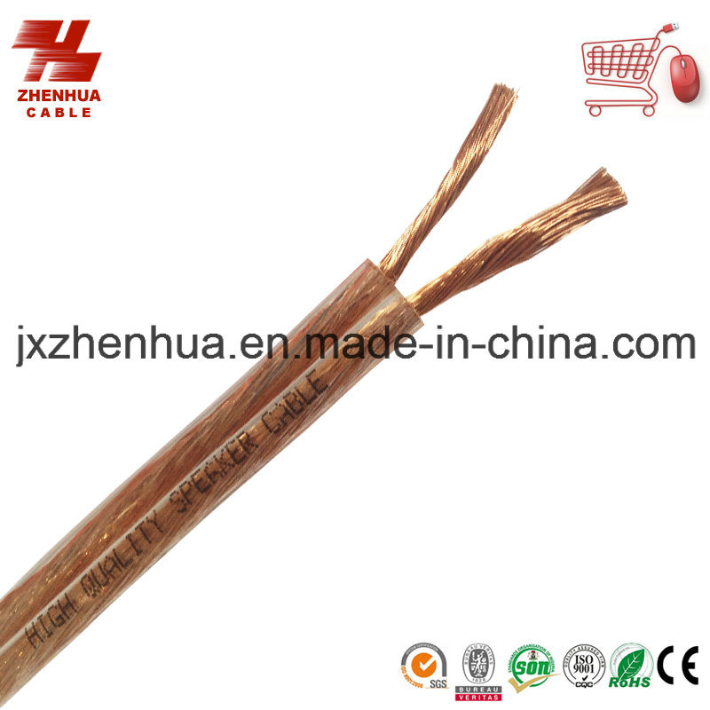 High Quality Transparent Speaker Cable RoHS Approval Made in China