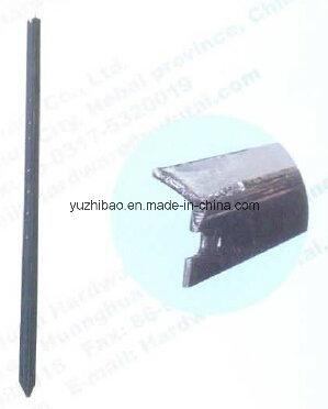 Black Painted Round Steel Connector, Steel Stake