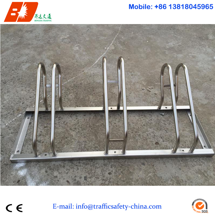 OEM Custom Made 304 Stainless Steel Bicycle Stand Parker Bike Rack