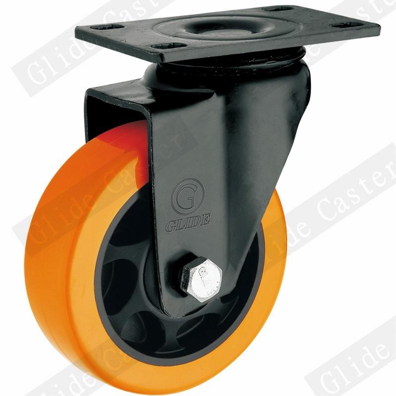 Medium Duty PU Swivel Caster Wheel (Orange) (G3206E)