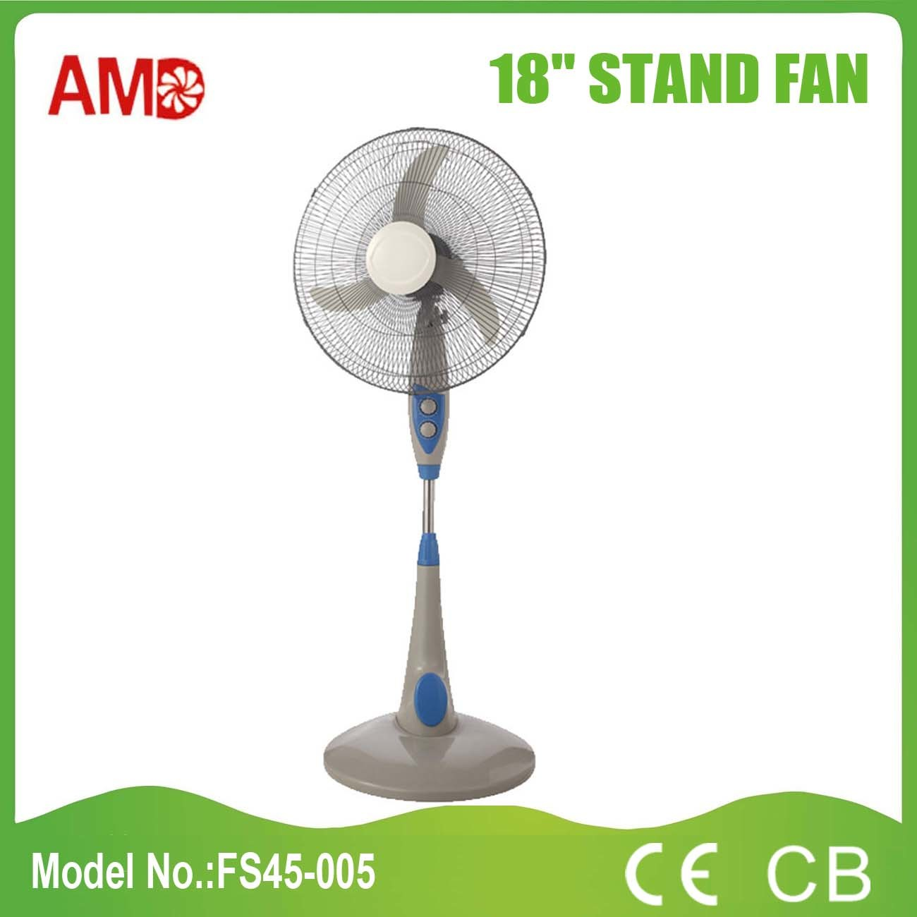 """Hot-Selling Cheap Price Good Quantity 18"""" Stand Fan (FS45-005)"""