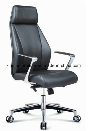 Hot Sale Office Swivel Leather Chair with Aluminium Arm