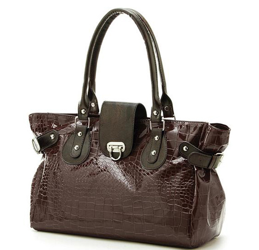 Lady′s Crocodile Grain PU Leather Handbags (RS-EP0009)