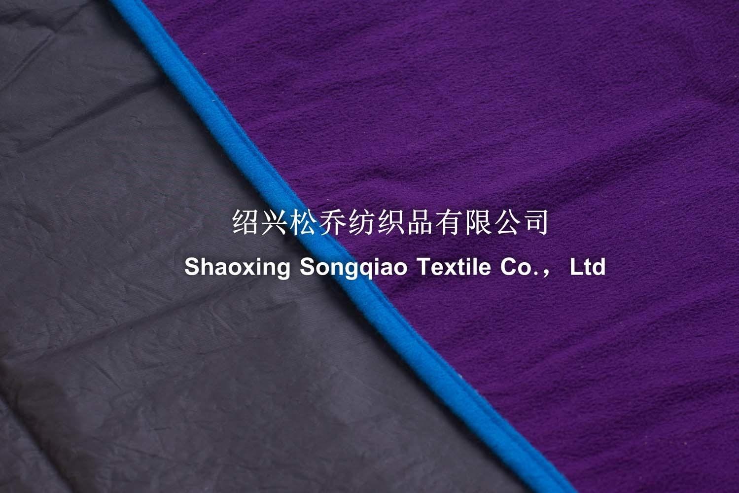 Polyester Fleece Picnic Blanket with Bandage/Custom Blanket