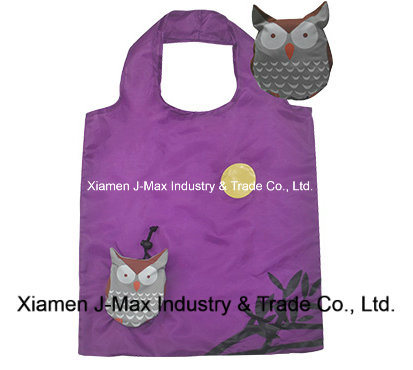 Foldable Shopper Bag, Animal Owl Style, Reusable, Lightweight, Grocery Bags and Handy, Gifts, Promotion, Accessories & Decoration