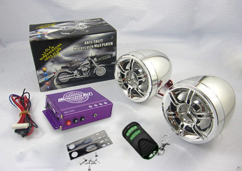 Visual MP3 Mutilfunctional Motorcycle Audio with Alarm System