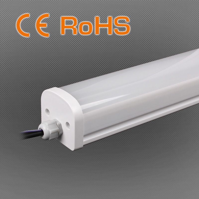4FT 36W 110lm/W PC Housing LED Tri-Proof Light for Swimming Pool Use