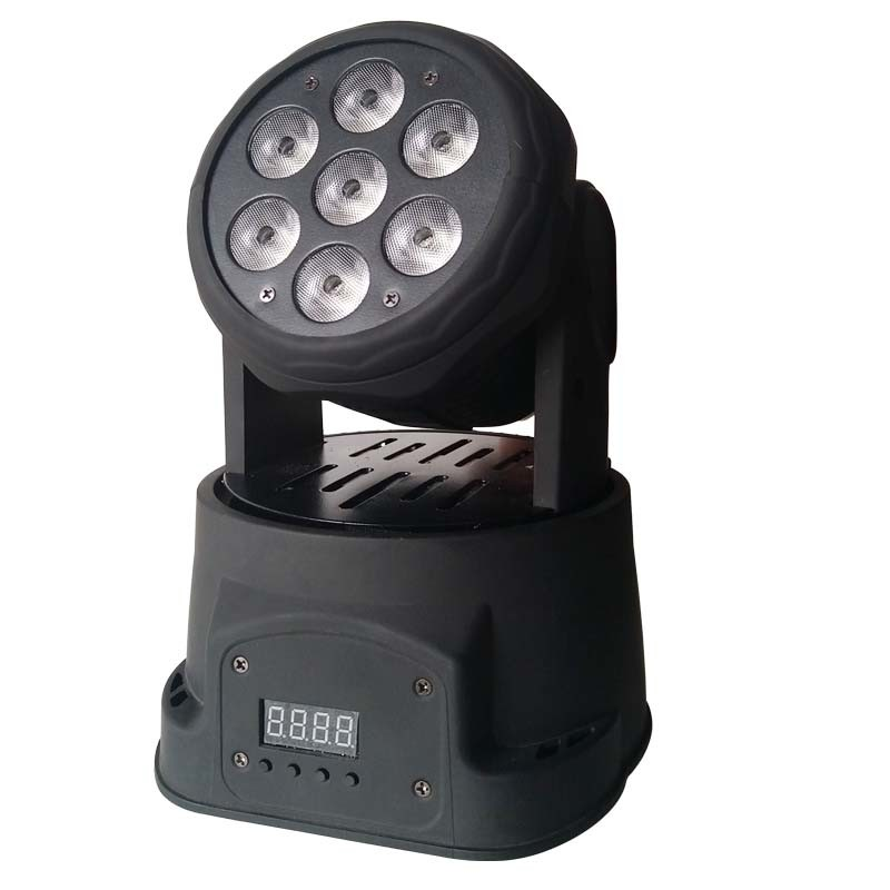 RGBWA+UV 6in1 Small Moving Head Light for Stage Lighting