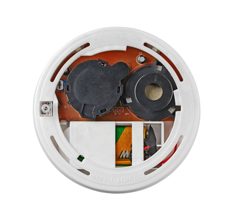 10 Year 12V Lithium Battery Wired Smoke Alarm Sensor