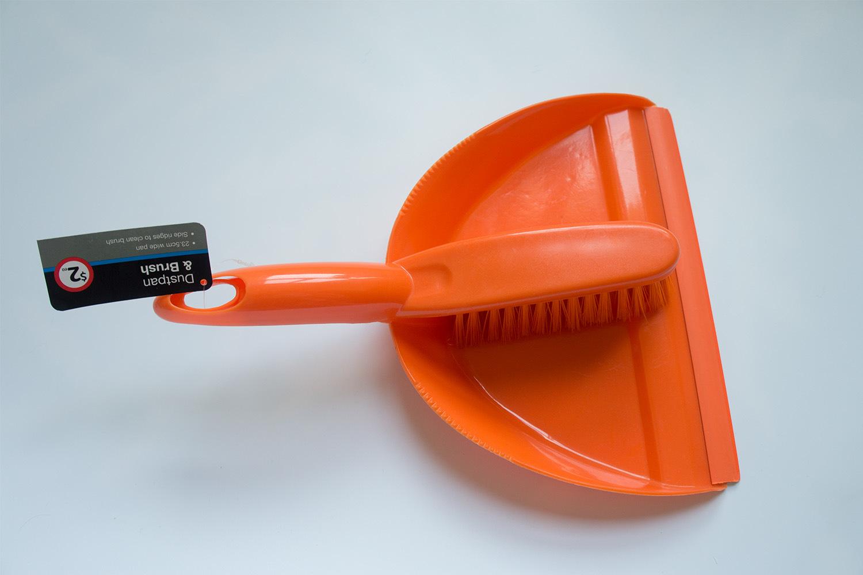 Dustpan and Brush Set (Orange)