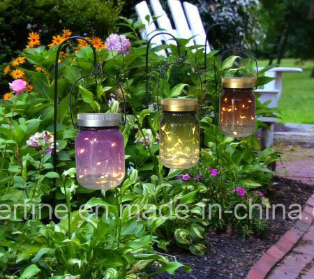 LED Solar Colorful Firefly Mason Jar Decorative Outdoor Lights