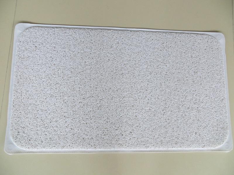 Home Hotel Use Square PVC Loofa Bathroom Mat Shower Rug